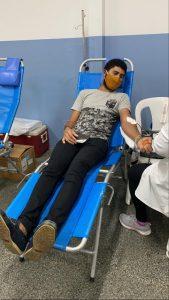 Pedro Lucas da Silva Oliveira fez sua primeira doação