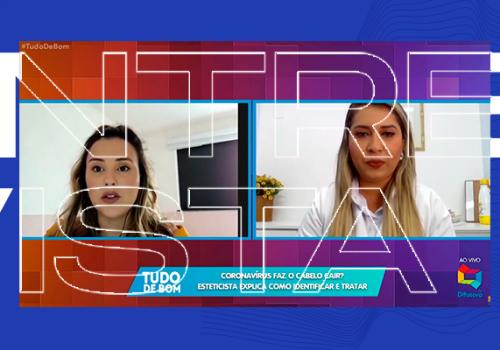 Coordenadora do curso de Estética e Cosmética da Florence concede entrevista à TV Difusora